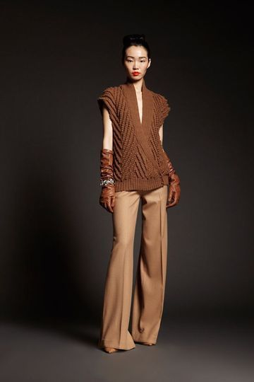 Tribune Standard, NY Fashion Week, Fall 2013 leather gloves, neutral fall colors, wide boot leg pants!