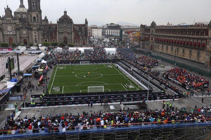 Histórico Partido de Fútbol en el Zócalo consolida a la CDMX Capital del Deporte