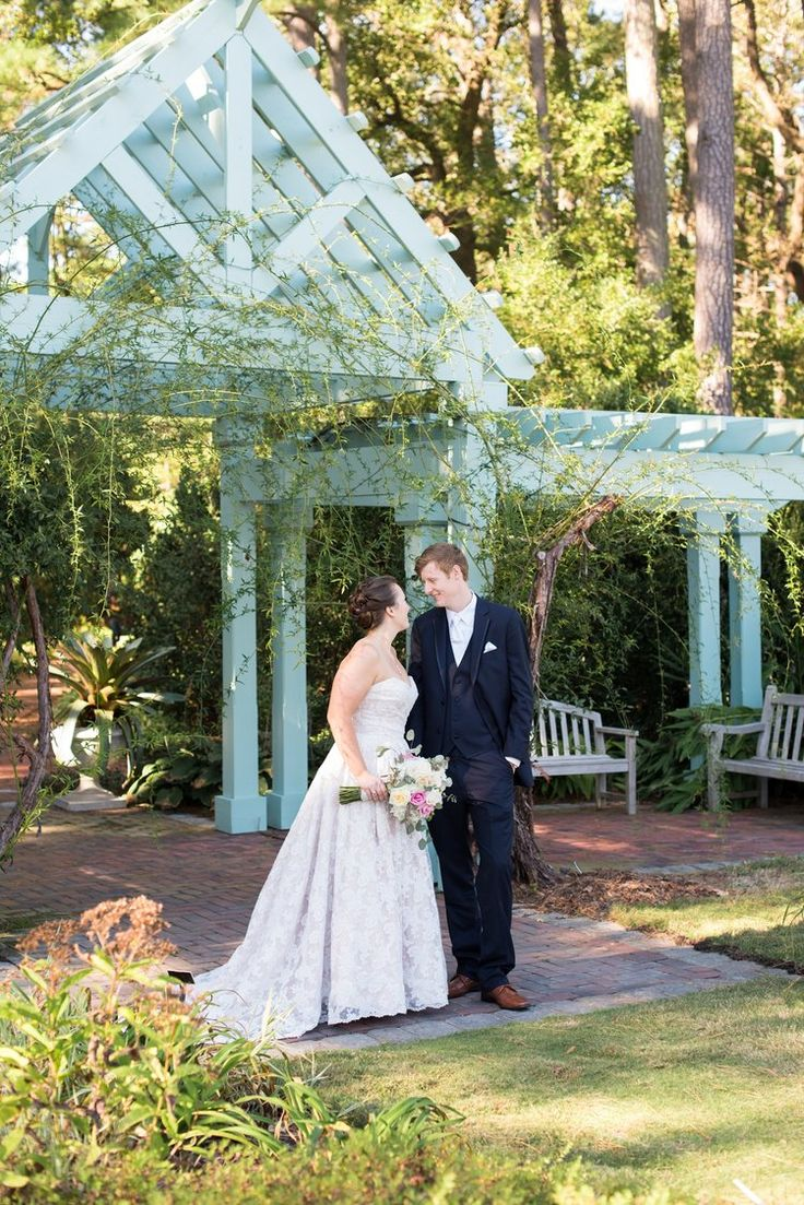 Bride And Groom Portraits   Butterfly Garden Norfolk Botanical Garden  Wedding U2014 Caitlin Gerres Photography