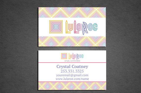 Lularoe business card professionally printed double for Lularoe business card ideas