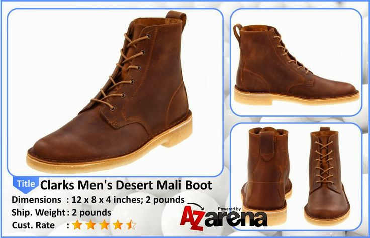 Clarks Men's Desert Mali Boot Beeswax Leather   Find authentic style in premium leather from the Clarks Originals men's collection. This men's lace-up boot is finished with the signature plantation crepe sole, this beeswax leather lace-up boot cushions the foot on a leather-lined, and padded footbed. For classic style, turn to the Clarks Originals Desert Mali.