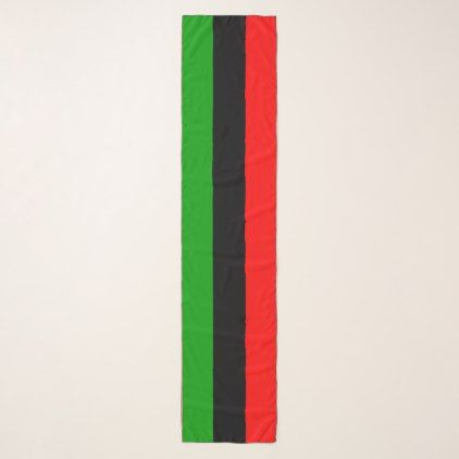 Red Black Green Pan African Flag Scarf - black gifts unique cool diy customize personalize
