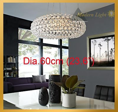 65cm Caboche Acrylic Ball Chandelier Ceiling Light Pendant Lamp