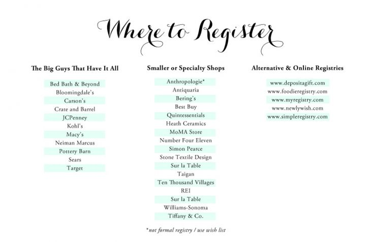 The everygirl 39 s wedding registry guide the everygirl for Things to put on wedding registry