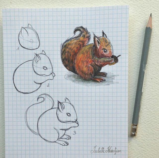 les meilleures id es de la cat gorie cureuil dessin for idee de peinture  facile with idee de dessin facile