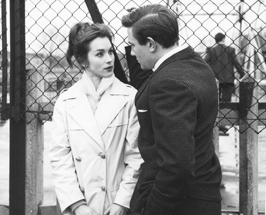 Albert Finney shown with Shirley Anne Field, in Saturday Night and Sunday Morning. 1960.