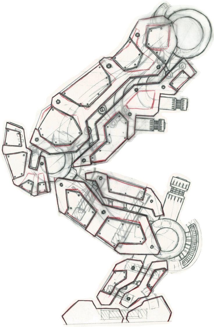 Robot legs by mf mitch