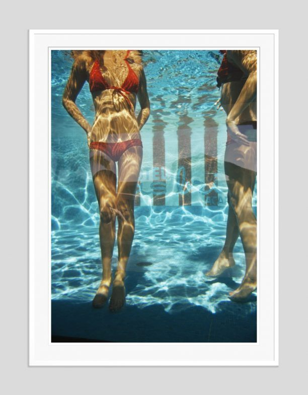 'Pool At Las Brisas' 1972 Open Edition or Limited Edition Estate Stamped Ctype Print (edition size 1/150).   Guests in the pool at the Las Brisas Hotel, Acapulco, Mexico, February 1972. (Photo by Slim Aarons)  Available to order online in various sizes & frames - worldwide shipping at GALERIEPRINTS.com
