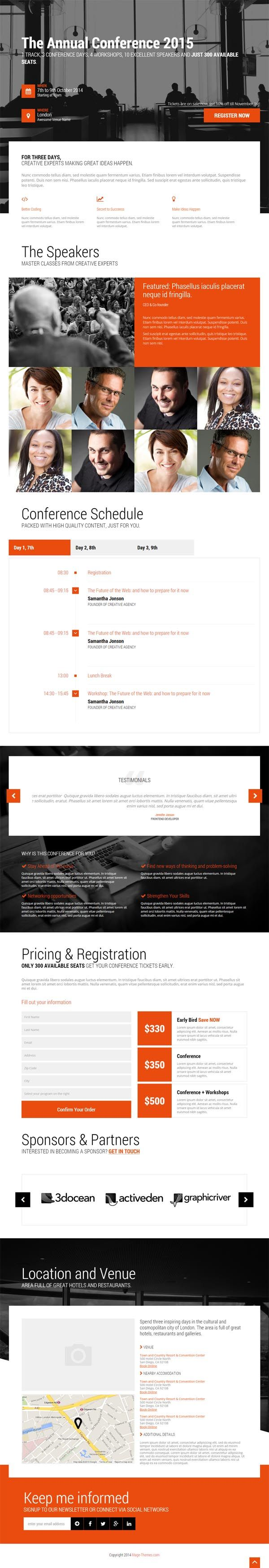 Event - Conference & Event HTML5 Landing Page #html5templates #webtemplates #psdtemplates #responsivedesign