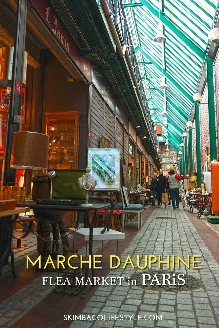 paris flea markets - Marche Dauphine, aka; Marche aux Puces de Saint-Ouen flea market in Paris