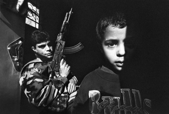 francesco cito, Rafah, gaza strip, a member of Al Fatah, and a kid. stunning moment.
