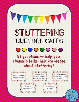 Free! Stuttering question cards