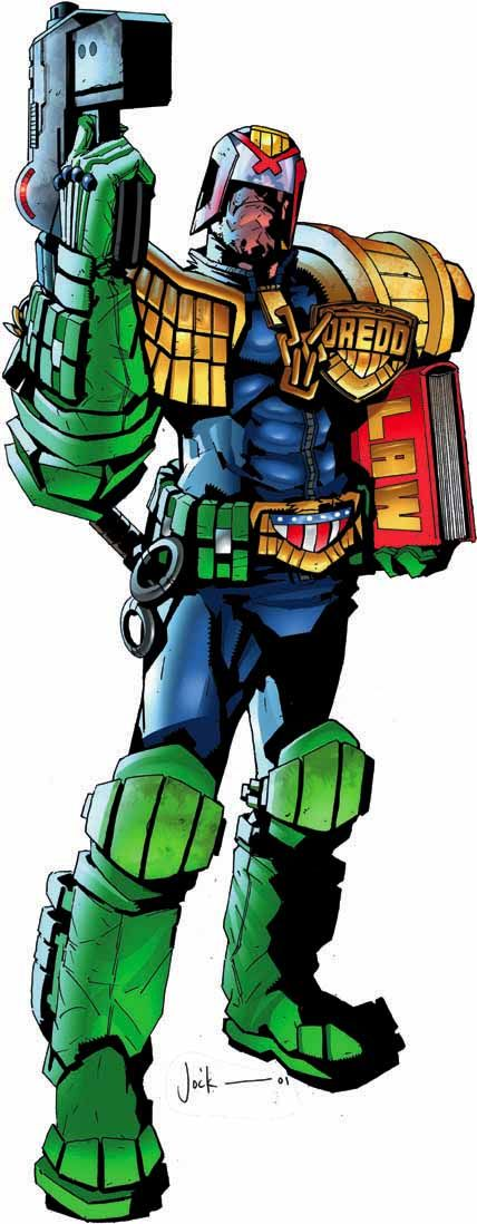 Judge Dredd - I am the Law.