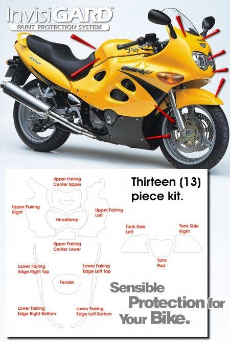 28 best gsxf katana images on pinterest katana motorbikes and biking invisigard invisible clear paint headlight protection kits for suzuki gsx600f gsx750f katana fandeluxe Gallery