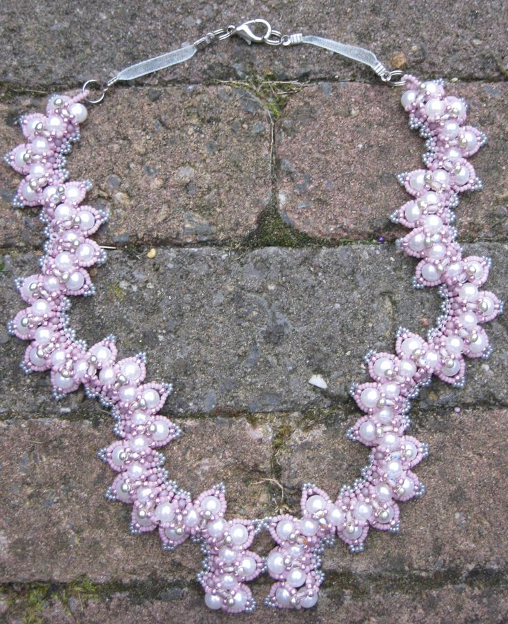 """""""Granada"""" necklace - for this necklace I used the Granadapattern by Sabine Lippert as base"""