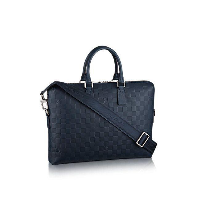 Porte-Documents Jour Damier Infini Leather - Mens Bags