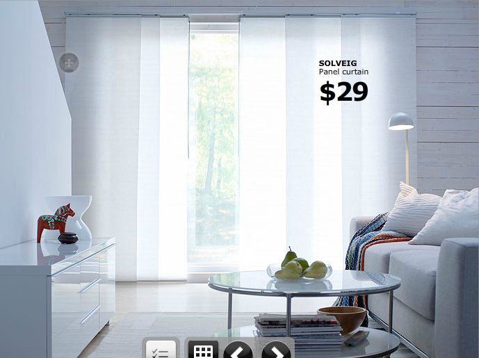 Charming Ikea Panel Curtains | Ikea Sliding Panels Curtain