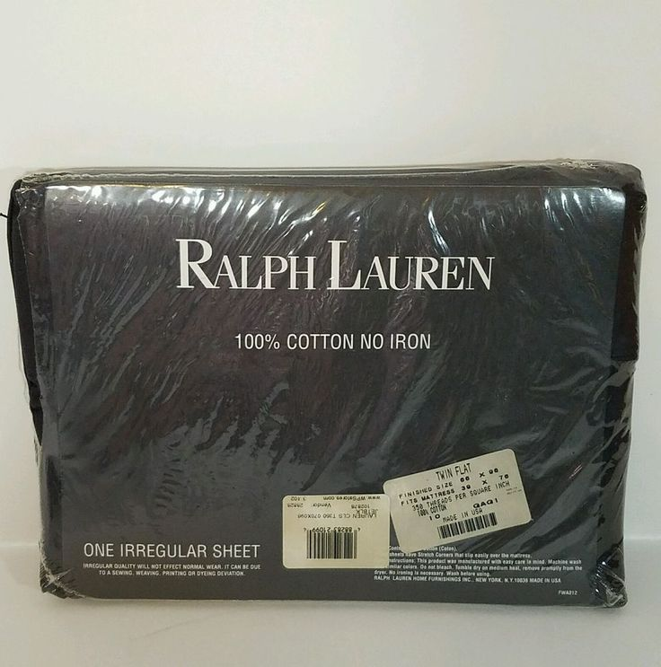 #forsale Ralph Lauren Sheet Classic Jet Black 350 Thread count Twin Flat Sheet Irregular Supima #ralphlauren #flat #fitted #sheets #homecollection #supima #supimacotton #bedding #homedecor #superfine #luxury #modern #home #bed #sheet #threadcount http://ow.ly/1QoT308frIg