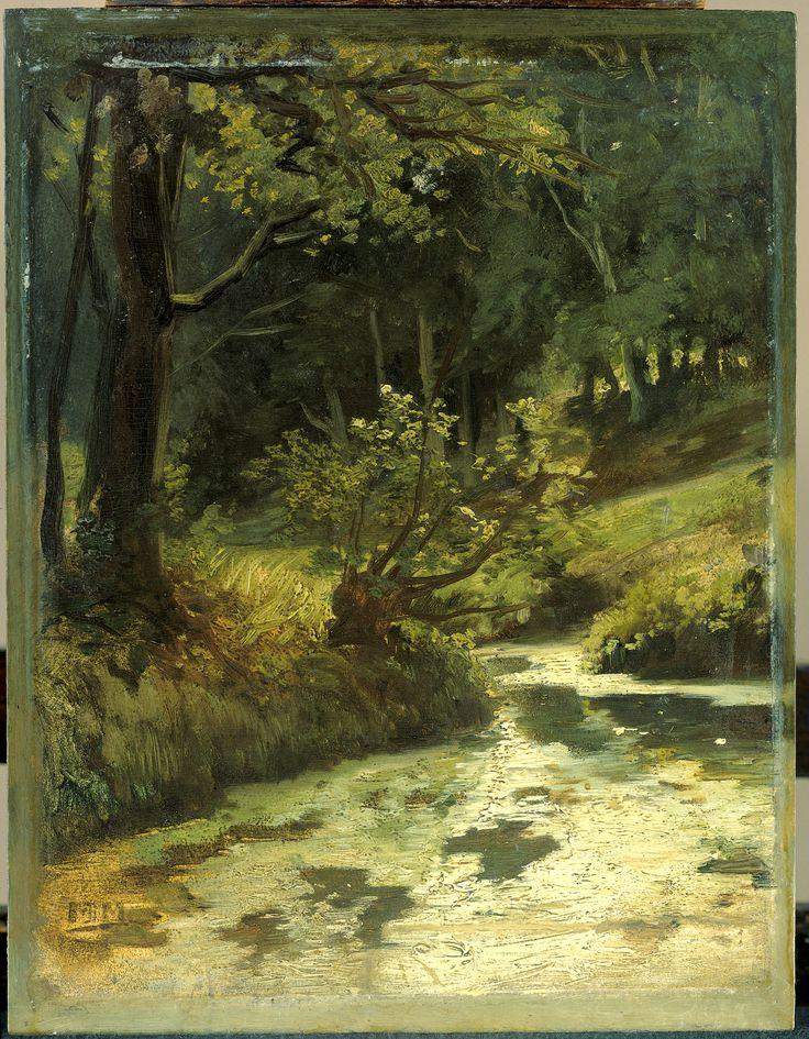 Matthijs Maris, Brook In The Woods Near Oosterbeek. 1860