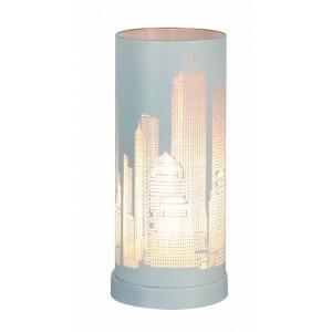 Lampe tactile New York blanc mat