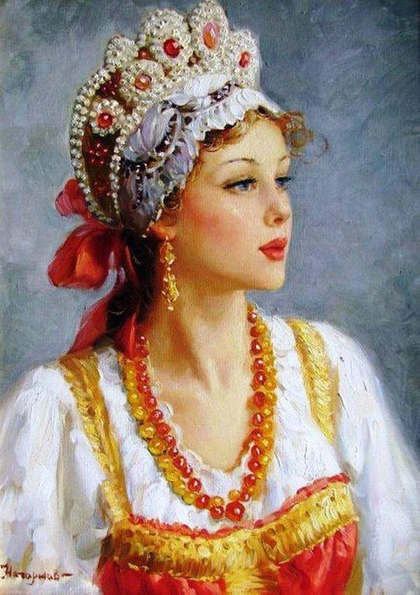 Русская красавица – картина Владислава Нагорнова