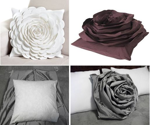 Diy rose pillow