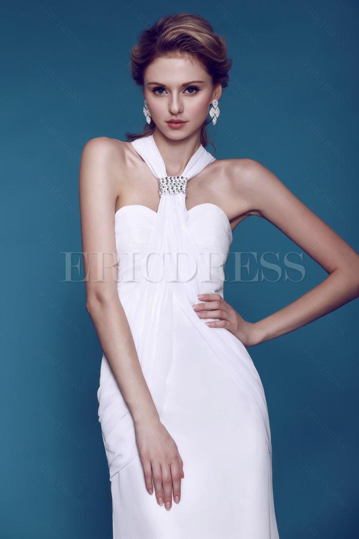 Beautiful Column Wedding Dress