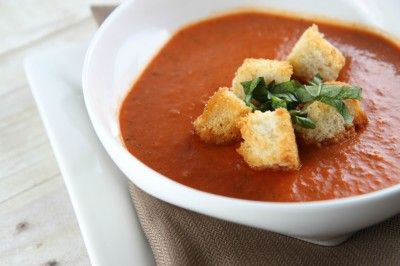 new favorite tomato soup. A must try. Perfect balance of tomato, cream ...