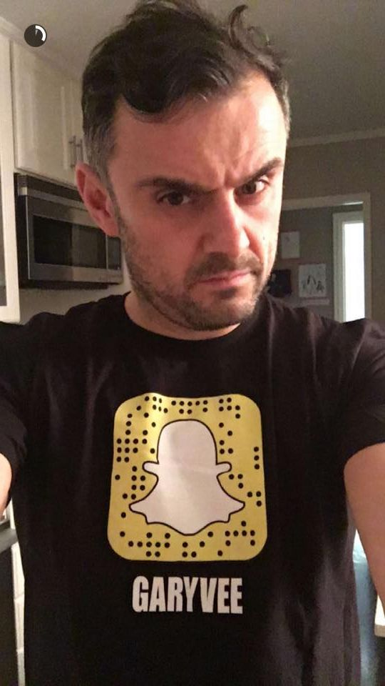 If you're following @garyvee on Snapchat, you may have seen this snap before. If you haven't - check him out. His snaps are very funny but also full of business inspiration and #snapchatsecrets