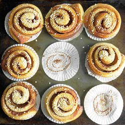 Kanelbullar - Swedish Cinnamon Buns with a hint of cardamom - great for breakfast or with coffee