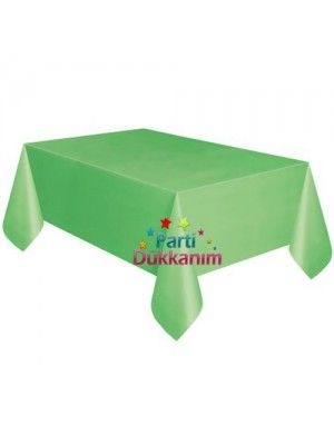 Yeşil Masa Örtüsü Plastik Lüks 137x274 fiyatı