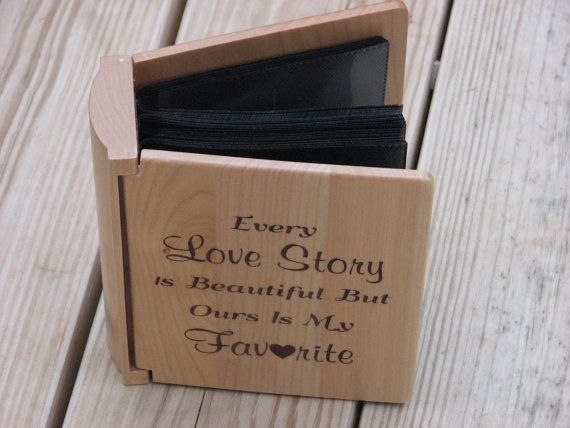 Laser Engraved Wood Photo Album Wedding by TimberCreekCountry