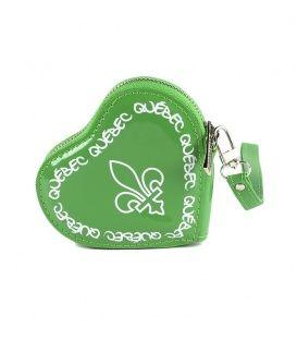 Green Quebec Heart Coin Purse