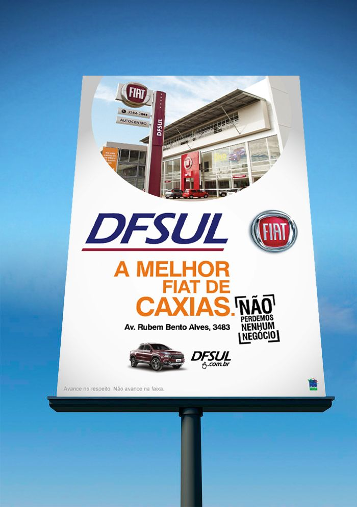 Cliente: DFSUL concessionária Caxias do Sul  Material: Triedo  Agência: BAG propaganda