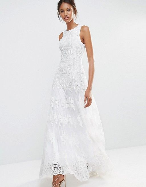 A Star Is Born | A Star Is Born Embellished Lace Maxi Dress