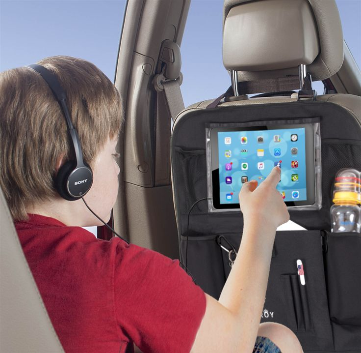 "This is how ""satisfied and entertained"" child looks like! Checking Facebook or watching movie during daily commuting or long distance travels. Featuring Bearoy Car Back Seat Organizer with Tablet holder. Read more on www.buy.bearoy.com #bearoy #caraccessory #car #carbackseatoganizer #carorganizer #kids #tabletholder #tablet #ipad #ipadholder #carorganization #highquality #organizer #betterworld"