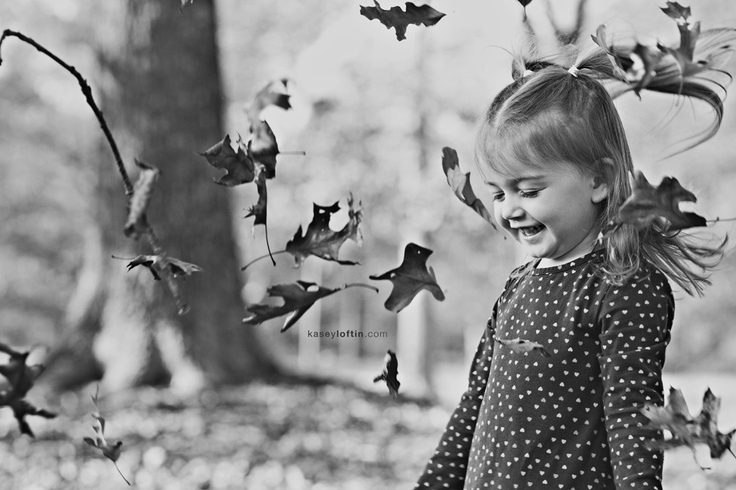 girl playing in the leaves #photography
