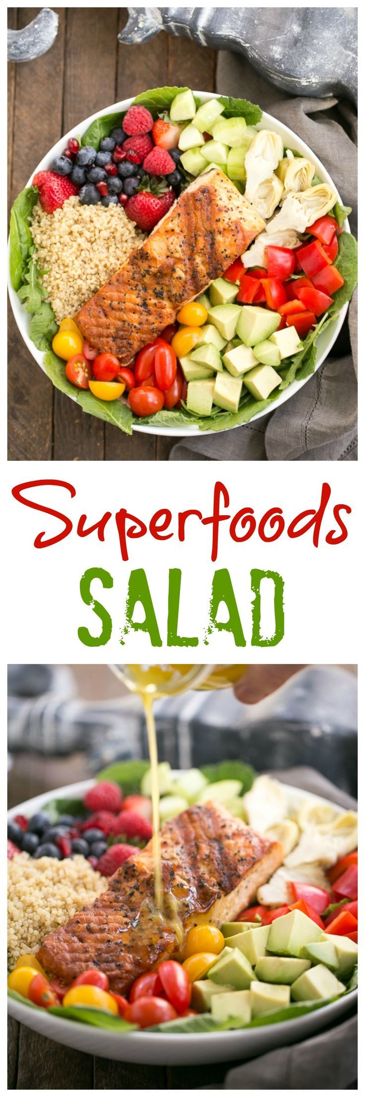 Superfoods Salad | An adaptable green salad filled with nutrient dense super foods @lizzydo