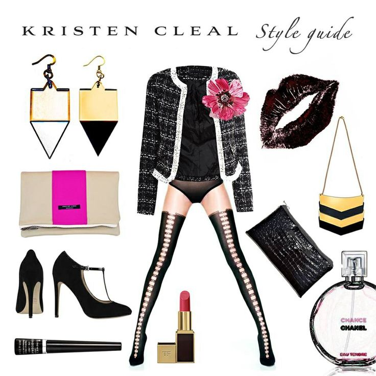 STYLE GUIDE>>>SEX IT UP! Caribbean Vacay Collection, a little cheeky… Fever Earrings, Kristen Cleal $20. Signature Necklace, Kristen Cleal $30. Cuba Clutch, Kristen Cleal $60. Totem Wallet, Kristen Cleal $25. Paiges Shoes, Wittner Shoes $159.95. Chic Spiked Jacket, MeeMee $28. Chanel Perfume Chance, Beauty Club $246. Lady Stardust Flower, Alannah Hill $29. Lipstick, TOM FORD $67. Wolford Fashion Stockings. Black Liquid Liner, Rimmel London $9.99.