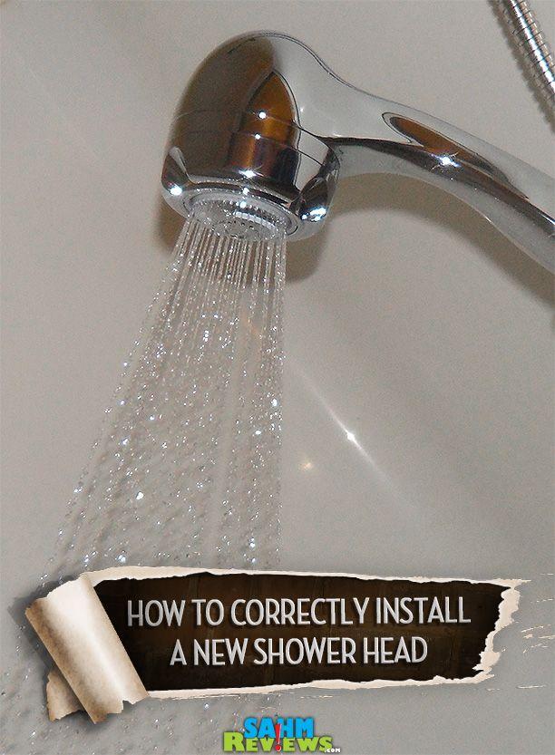 "Learn how to ""correctly"" change a shower head in your bathroom (photos & tutorial). - SahmReviews.com"