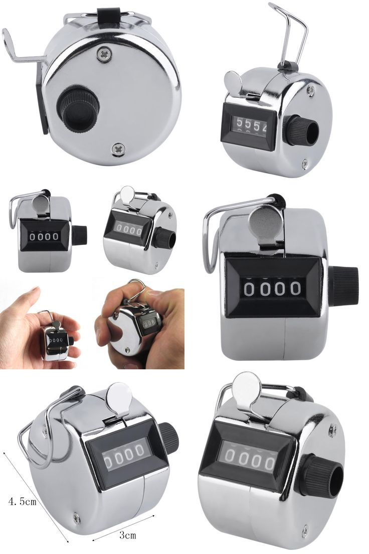 [Visit to Buy] Digital Chrome Hand Tally Clicker/Counter 4 Digit Number Clicker Golf Digital Chrome Hand Tally Clicker/Counter free shipping #Advertisement