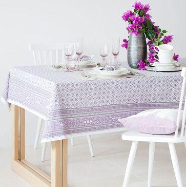 Lilac Cotton Tablecloth - mediterranean - Tablecloths - ZARA HOME