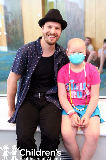 Inspirational Gavin in and out of music :) Gavin DeGraw at The Voice at Children's Healthcare of Atlanta