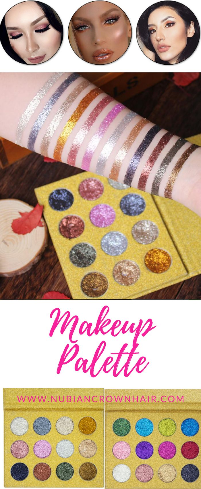 Do you love shimmery glittery sparkly eyeshadow? If so, then you will love this Makeup Palette! Theres 2 different palettes. Each palette consists of 12 different eye shadows. Which will be your favorite? Click for more info.