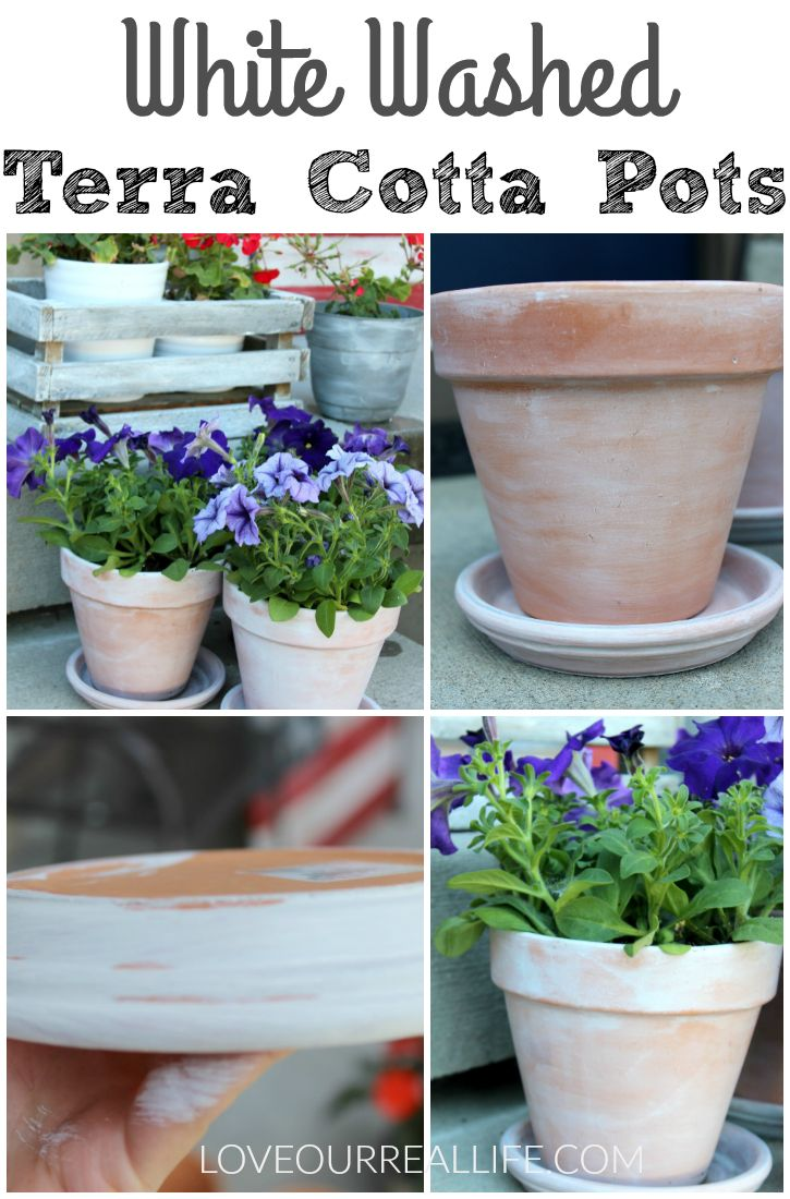 This is an easy tutorial for creating white washed terra cotta pots. If you want inexpensive pots that look expensive, click through to check out all the tips.