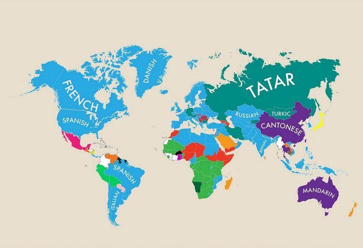 Cette carte très intéressante matérialise les deuxièmes plus importantes langues parlées dans chaque pays du monde. En France par exemple, l'anglais s'impose. Et en Australie alors? La langue chinoise! Cette carte mondiale enrichissante découpée par continent a été produite par MoveHub, un site ciblant les expatriés internationaux. La plateforme s'est basée sur des données de la CIAsur les langues les plus utilisées dans chaque pays. Sur cette carte, pratiquement chaque pays est…