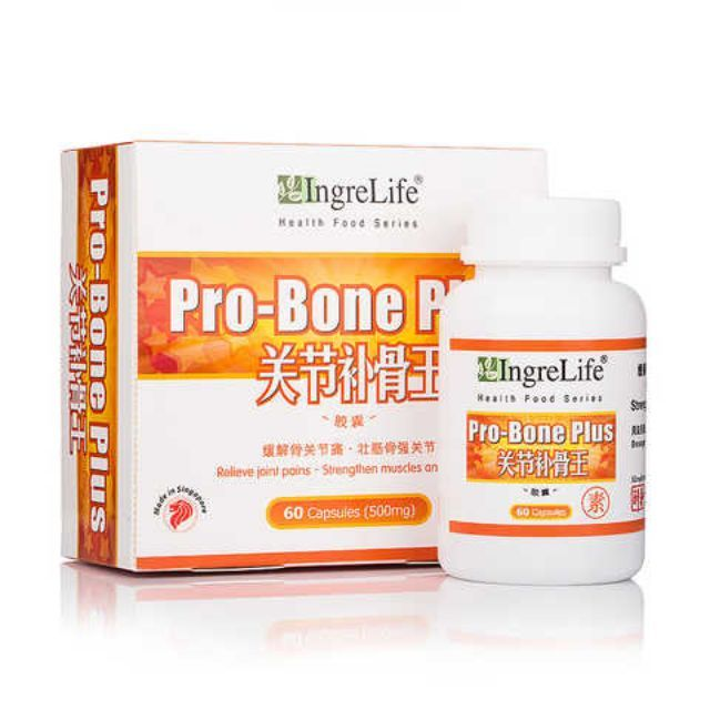 Made in Singapore.IngreLife Pro-Bone Plus is an excellent health product for bone joints. Easily taken, it is safe and markedly effective for: 1. Relieving joint pains and helping recovery: it improves the condition of joint pains and aids in the recovery of osteoporosis and catalysis;2. Strengthening bone joints by increasing sclerotin: it improves absorption of calcareous and the deposit of joints to slow down bone aging and maintain the tenacity and intensity of joints; 3. Tonifying the…