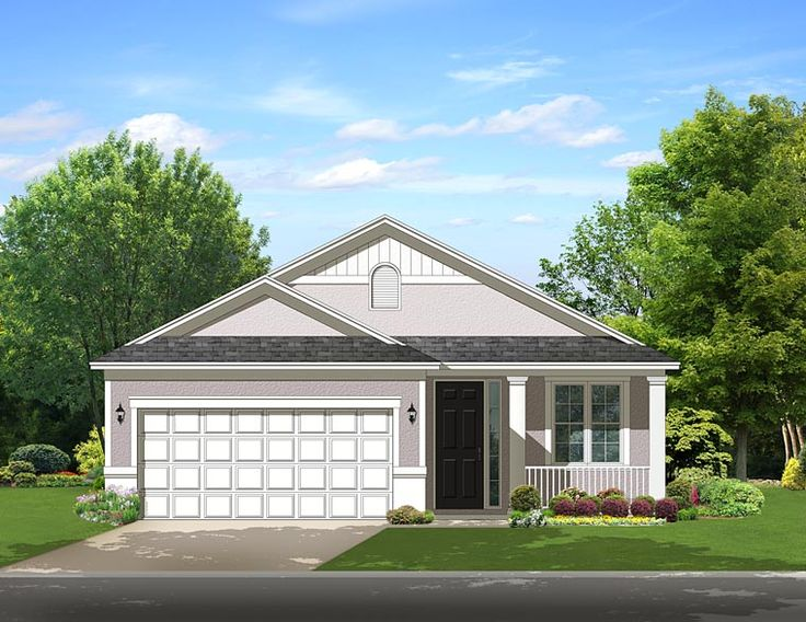 Florida Traditional House Plan 50867 Car Garage Traditional And Bedrooms