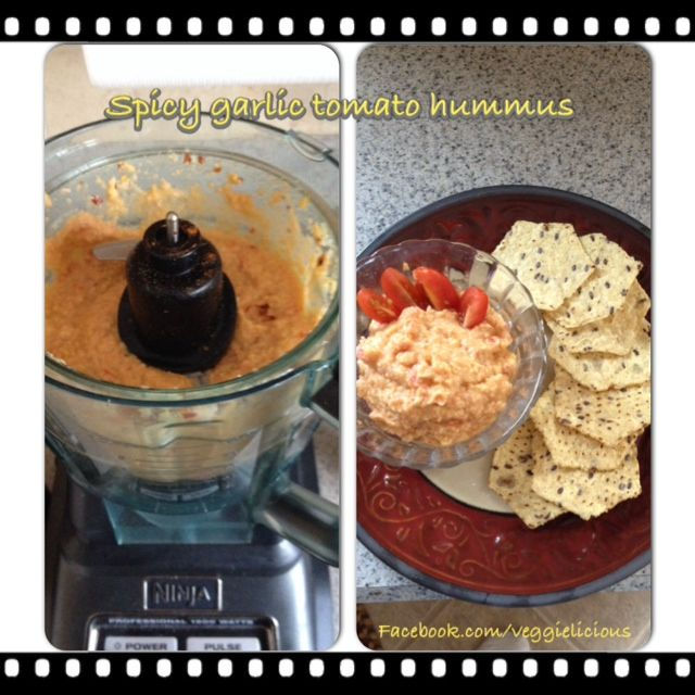 Hummus And Spicy Garlic Chickpeas Recipes — Dishmaps