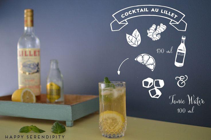 rezept cocktail au lillet, erfrischender aperitif mit lillet, ingwer und zitrone, super lecker, gern getrunken von happy serendipity
